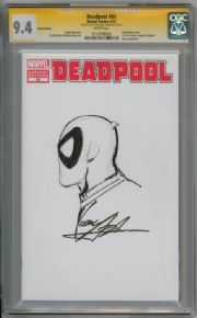 Deadpool #50 Blank Variant CGC 9.4 Signature Series Signed Neal Adams Sketch Marvel comic book